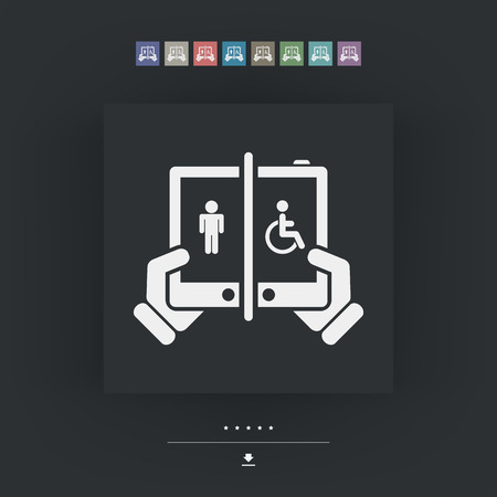intuitive: Device for disabled Illustration