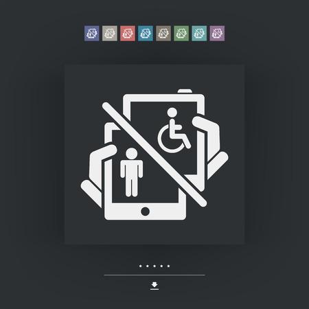 Device for disabled Illustration
