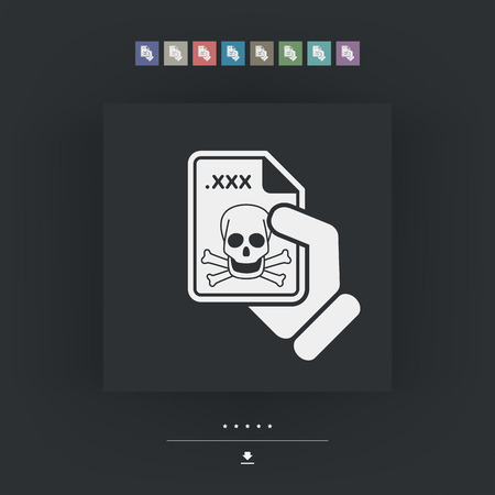 removing: Infected file icon