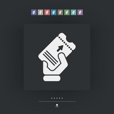 admittance: Ticket icon Illustration