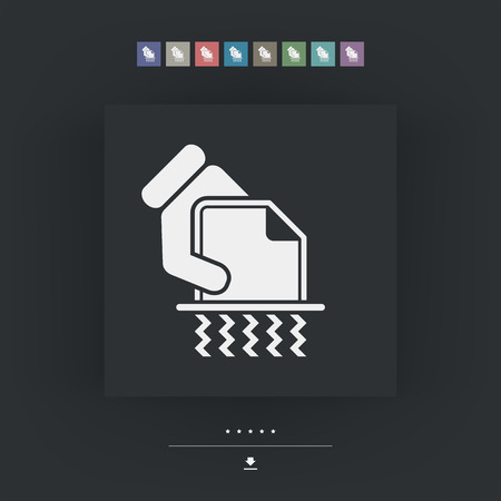 trashing: Shredder icon Illustration