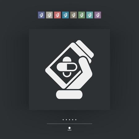 pills bottle: Pills bottle icon