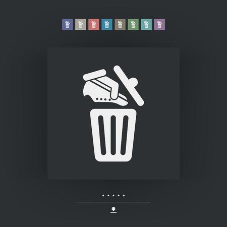 barter: Shoes on trash bin