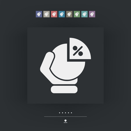 portion: Portion chart icon Illustration