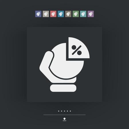Portion chart icon Illustration