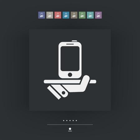 class maintenance: Smartphone service Illustration