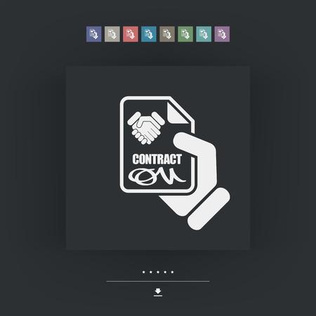 employee satisfaction: Contract icon Illustration