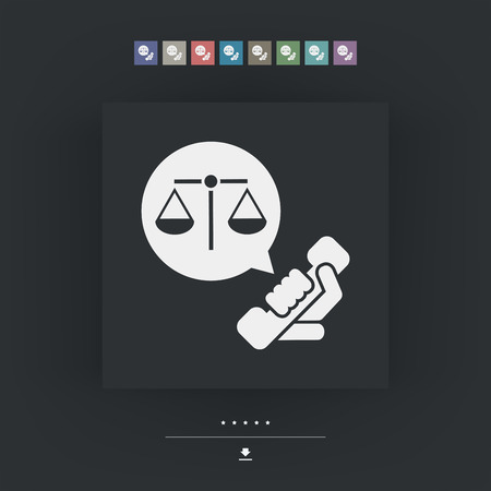 and assistance: Legal assistance icon