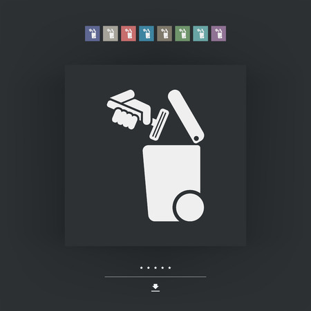 throwaway: Separate waste collection icon
