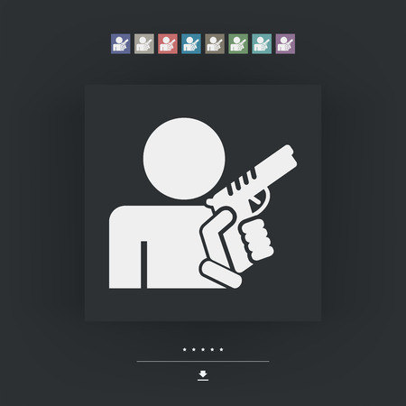 Concept of armed man