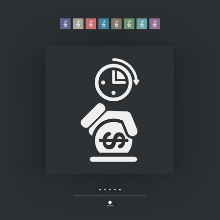 Money time icon Vektorové ilustrace