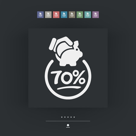 70: 70% Discount label icon Illustration