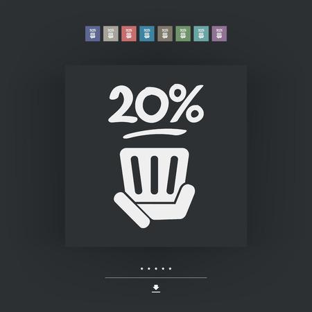 20: 20% etiqueta Vectores