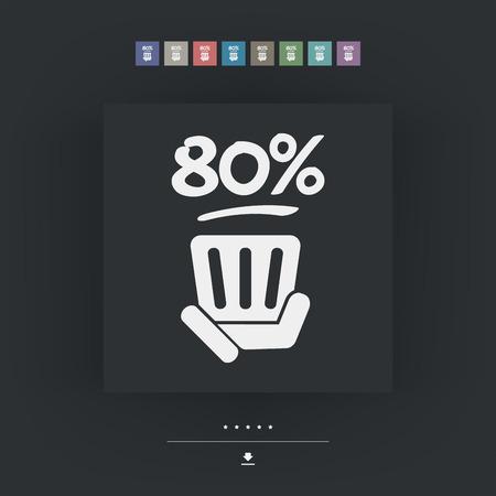 80: 80% label Illustration