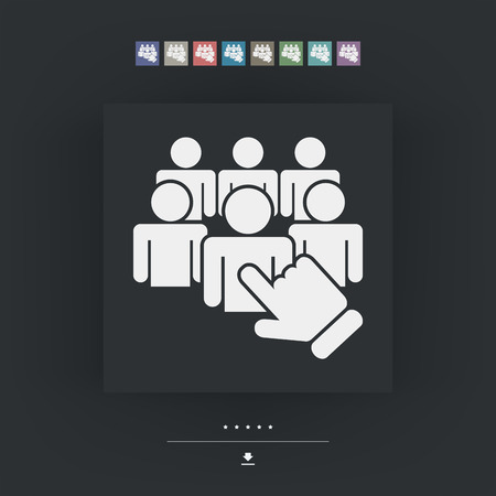 exclude: Staff selection icon