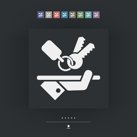excluding: Keys icon Illustration