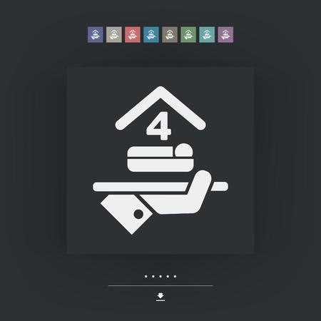 quadruple: Hotel icon. Quadruple bedroom.
