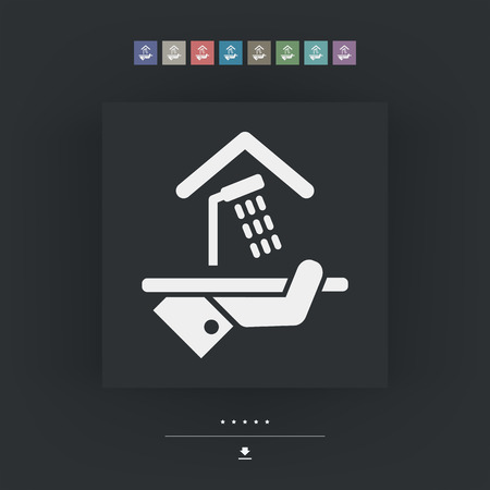 apartment suite: Hotel icon. Shower. Illustration