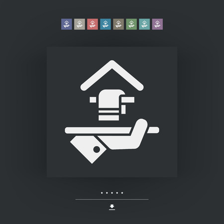 apartment suite: Hotel icon. Towel Service.