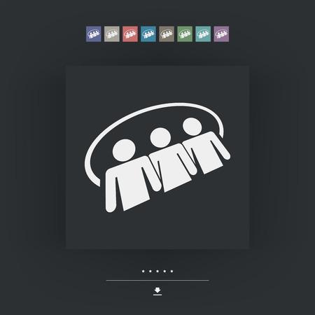 Social network icon 3d Vector