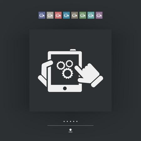device: Setting device Illustration