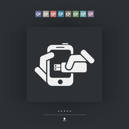 Smartphone storage icon Illustration
