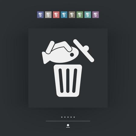 leftovers: Food trash icon