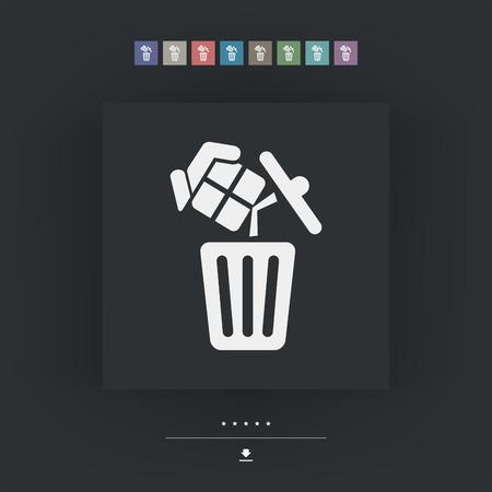 trashing: Trashing a gift Illustration