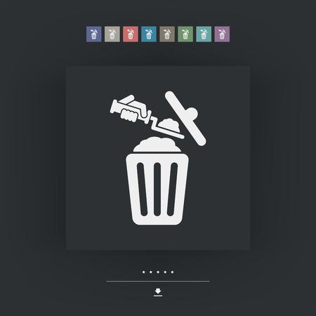 wastebasket: Disposal of construction materials Illustration