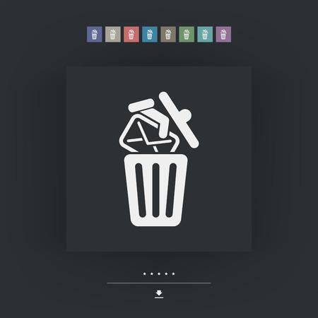 trashing: Trashing mail Illustration