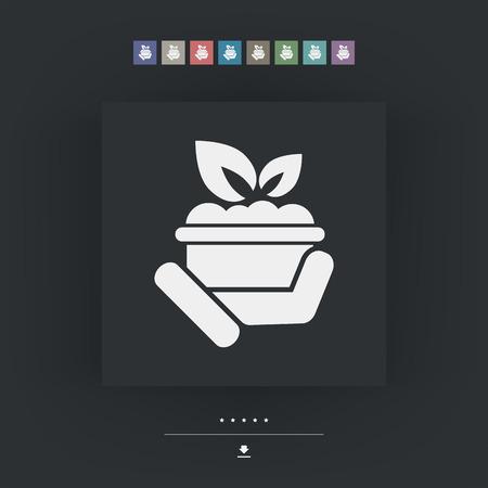 pharmaceutical company: Plant icon