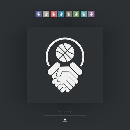 fairplay: Basketball fairplay Illustration