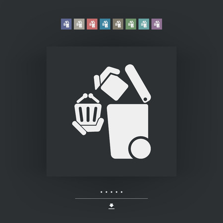 the residue: Separate waste collection icon