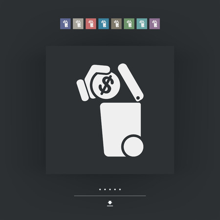 waste money: Separate waste collection icon