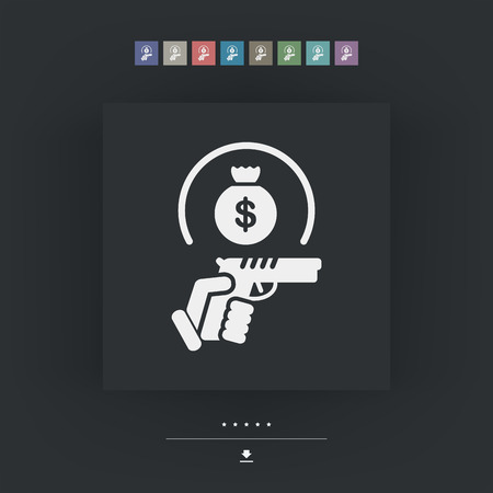 armed robbery: Raider icon Illustration