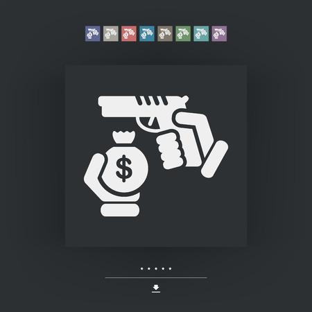 Robbery icon Illustration