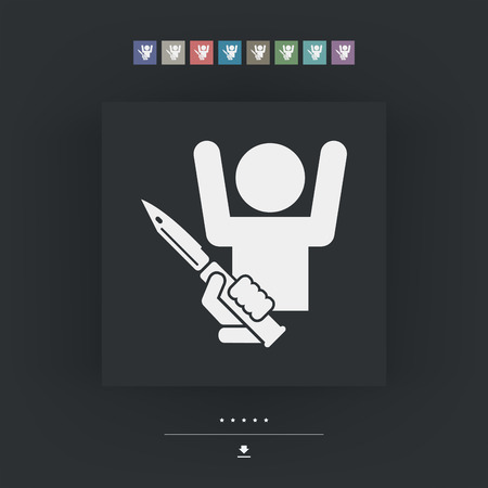 armed robbery: Rapine icon Illustration