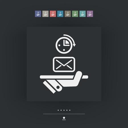 Postal fast service Illustration