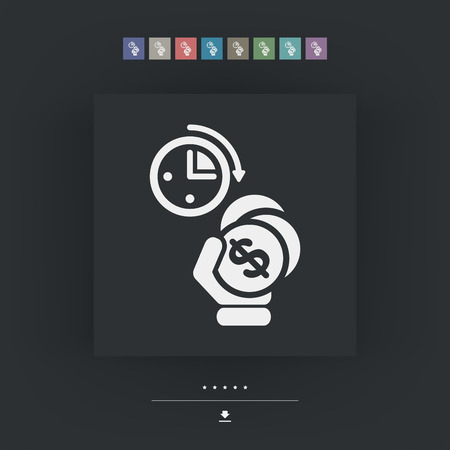 duration: Money time icon