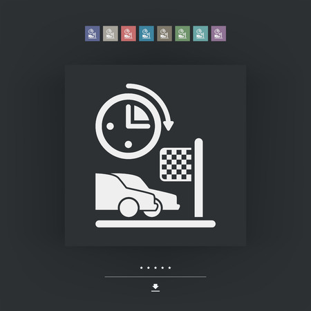 Car race icon Vector