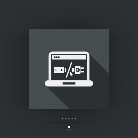 lading: Laptop accu concept pictogram