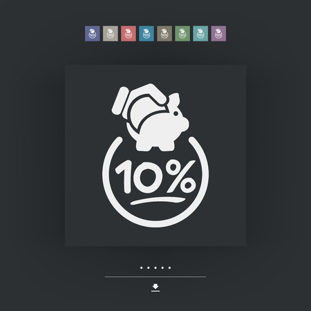 10: 10% Discount label icon