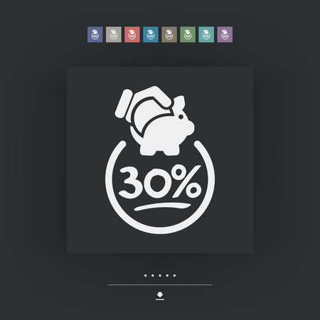 the 30: 30% Discount label icon