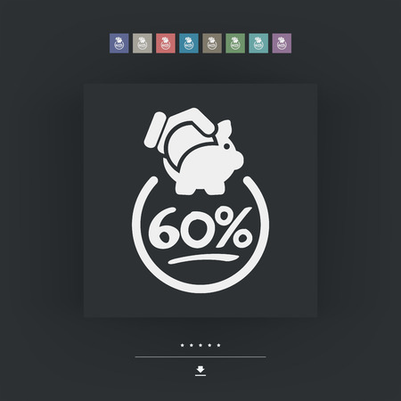 60: 60% Discount label icon