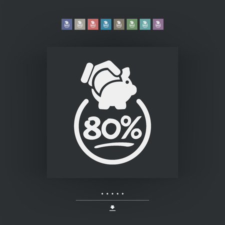 80: 80% Discount label icon