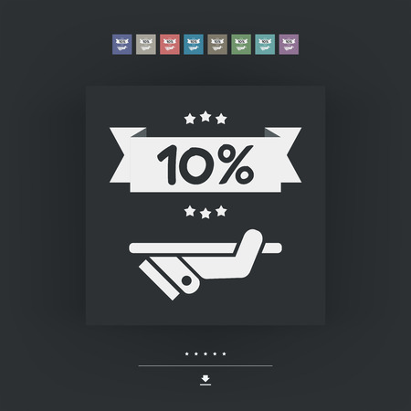 10: 10% Label icon