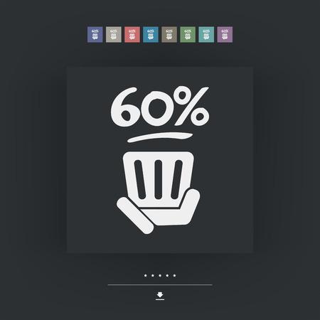 60: 60% label