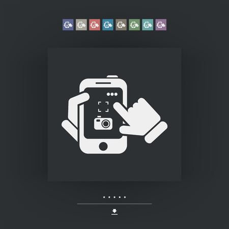 selfy: Smartphone icon. Photographing.