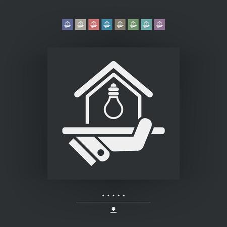 energetics: Electricity supply icon Illustration
