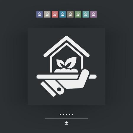 Binnenshuis tuin pictogram